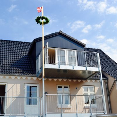 Bagers tømrer og snedker holder rejsegilde på Guldbrandsen´s hus